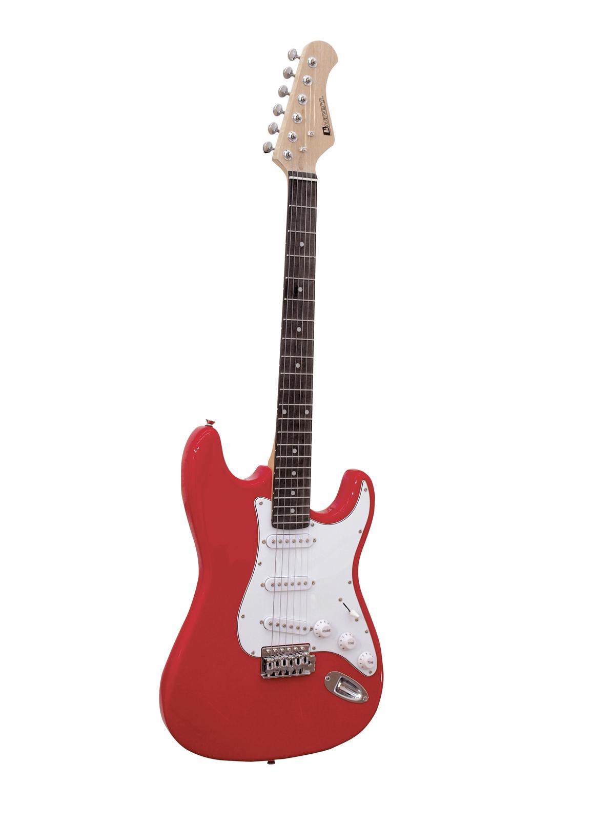 DIMAVERY ST-203 E-Gitarre, rot