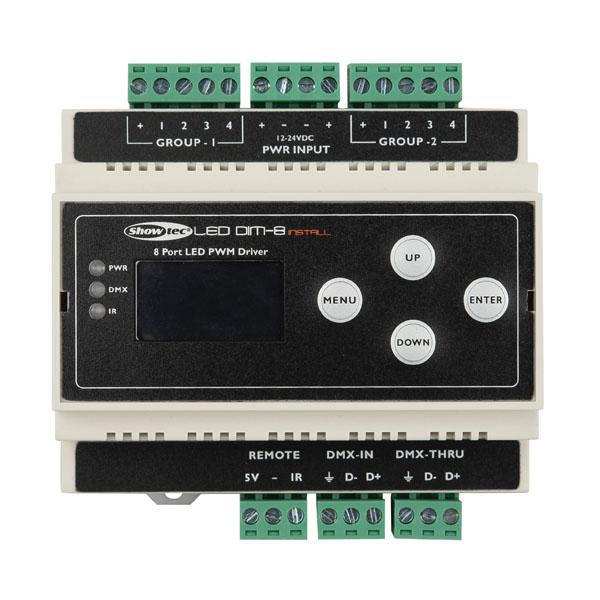 Showtec LED Dim-8 Install Din-rail