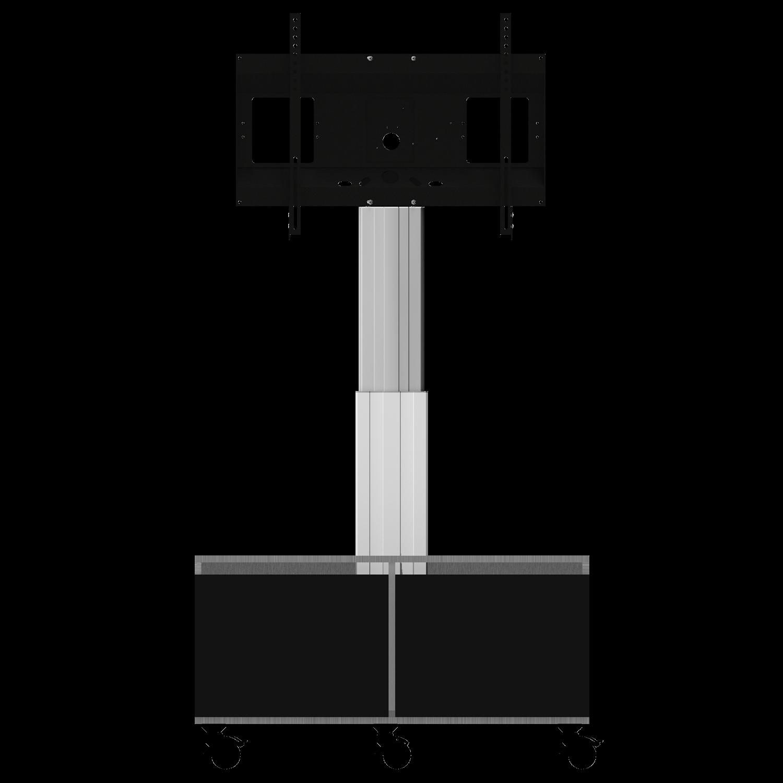 celexon Expert elektrisch höhenverstellbarer Display-Rollwagen Adjust-4286MS mit Schrank und Anschlussfeld - 50cm