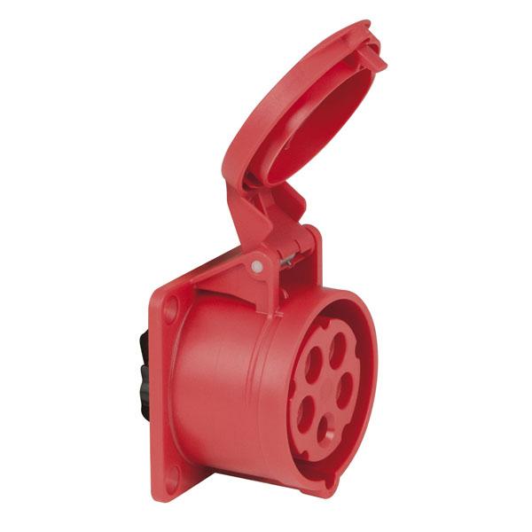 PCE CEE 16 A/400 V 5-pin Socket female Rot, IP44