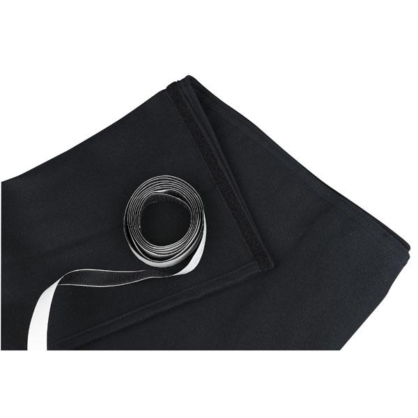 Showgear Skirt for Stage Elements Black, unpleated 6 m (B) - 80 cm (H), schwarz, ungefaltet