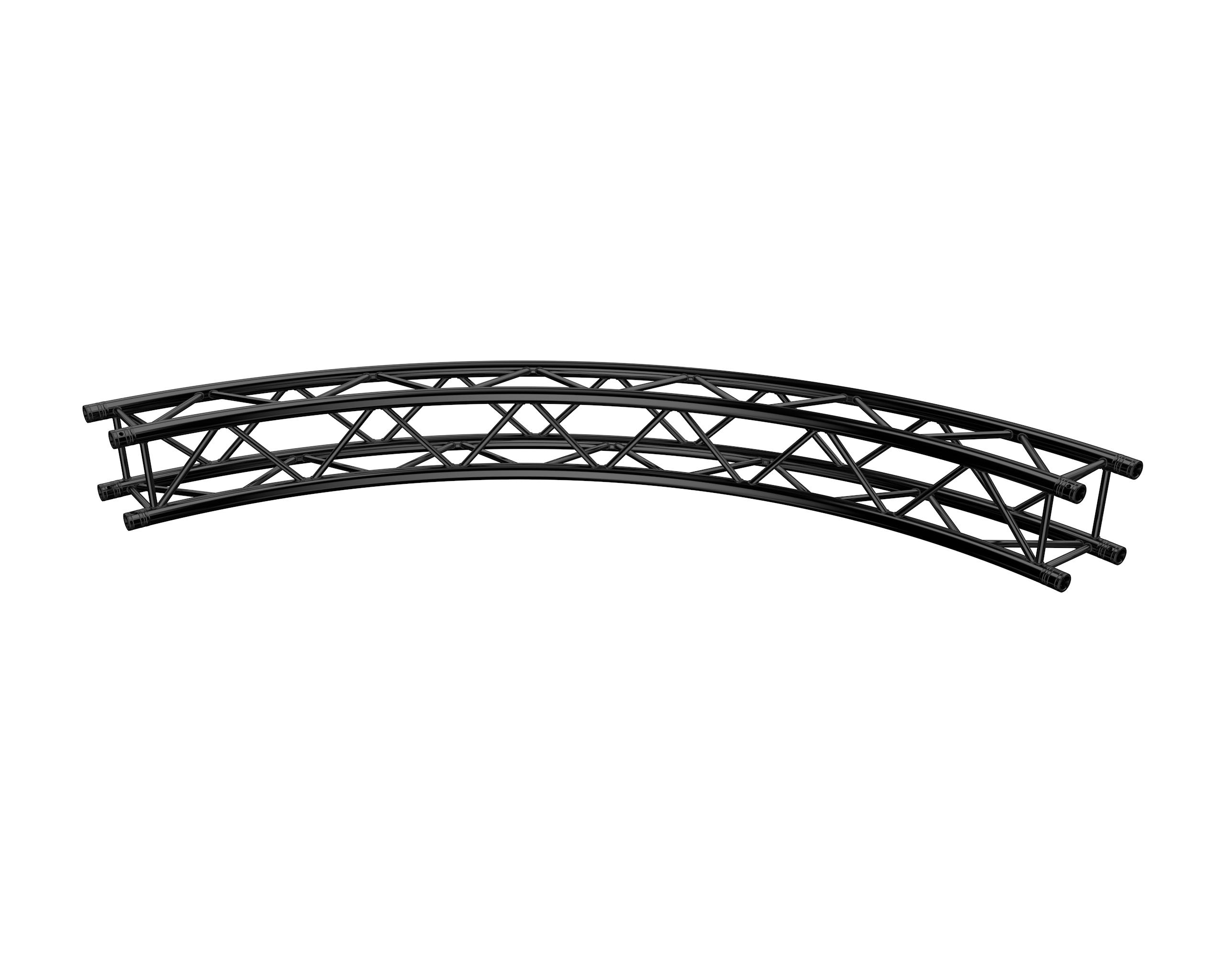 F34 Kreisstück für Ø 4,0m 90° stage black