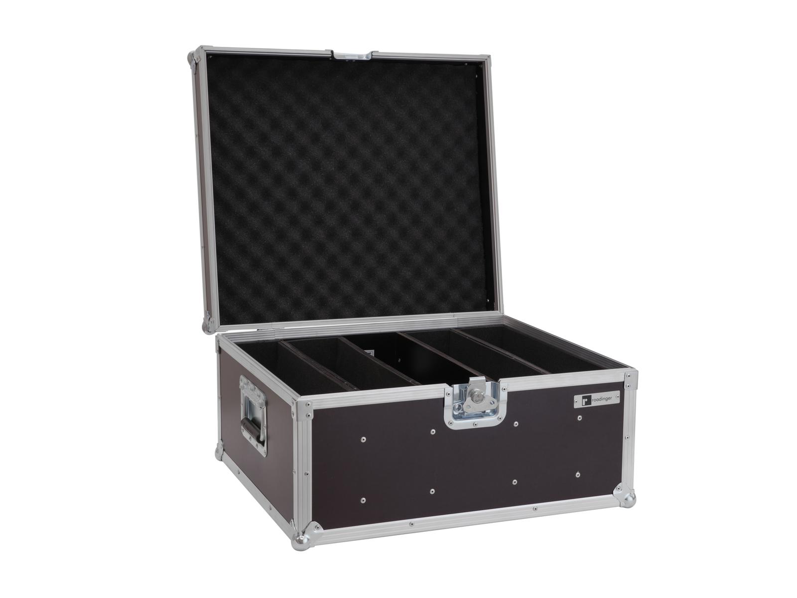 ROADINGER Flightcase 4x LED Super Strobe