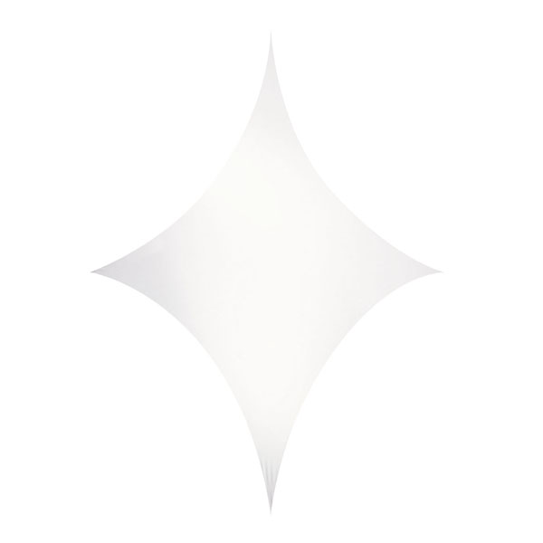Wentex Stretch Shape Diamond White 250cm x 125cm, Weiß
