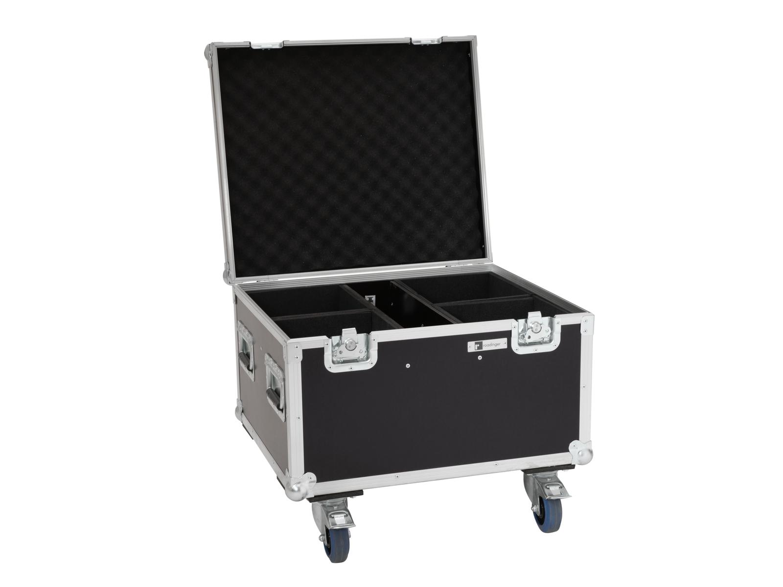 ROADINGER Flightcase 4x LED IP PAR 7x8W QCL/7x9W SCL mit Rollen