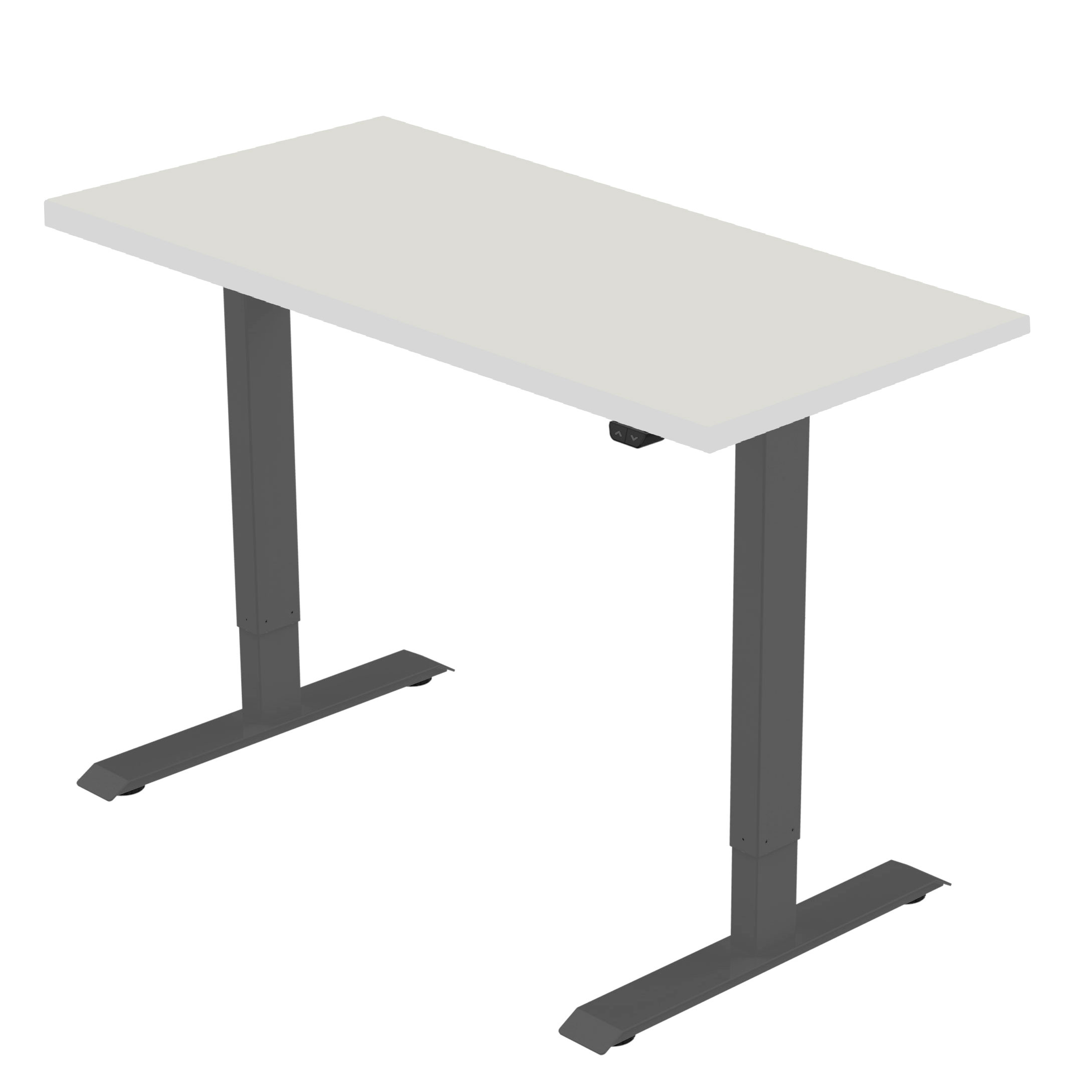 celexon elektrisch höhenverstellbarer Schreibtisch Economy eAdjust-71121 - schwarz, inkl. Tischplatte 175 x 75 cm