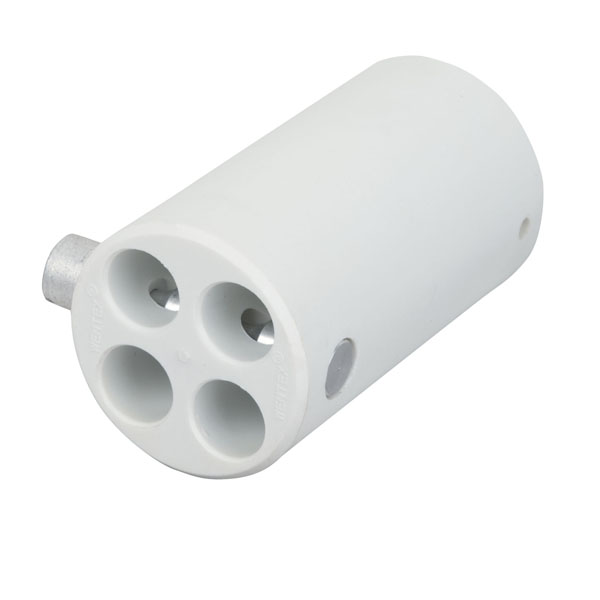 Wentex 4-way Connector Replacement Ø40.6 mm 40,6mm (Durchm.), Weiß
