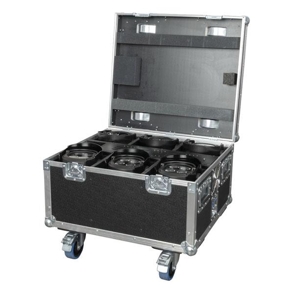 Showtec EventSpot 1600 Q4 Set Koffer mit Ladegerät und 6x Stück, schwarz