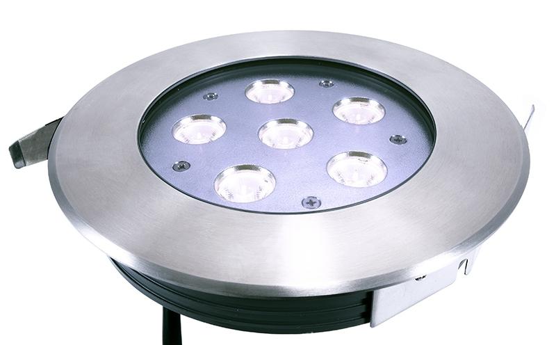 LED Bodeneinbaul. Flat CW 12W IP67