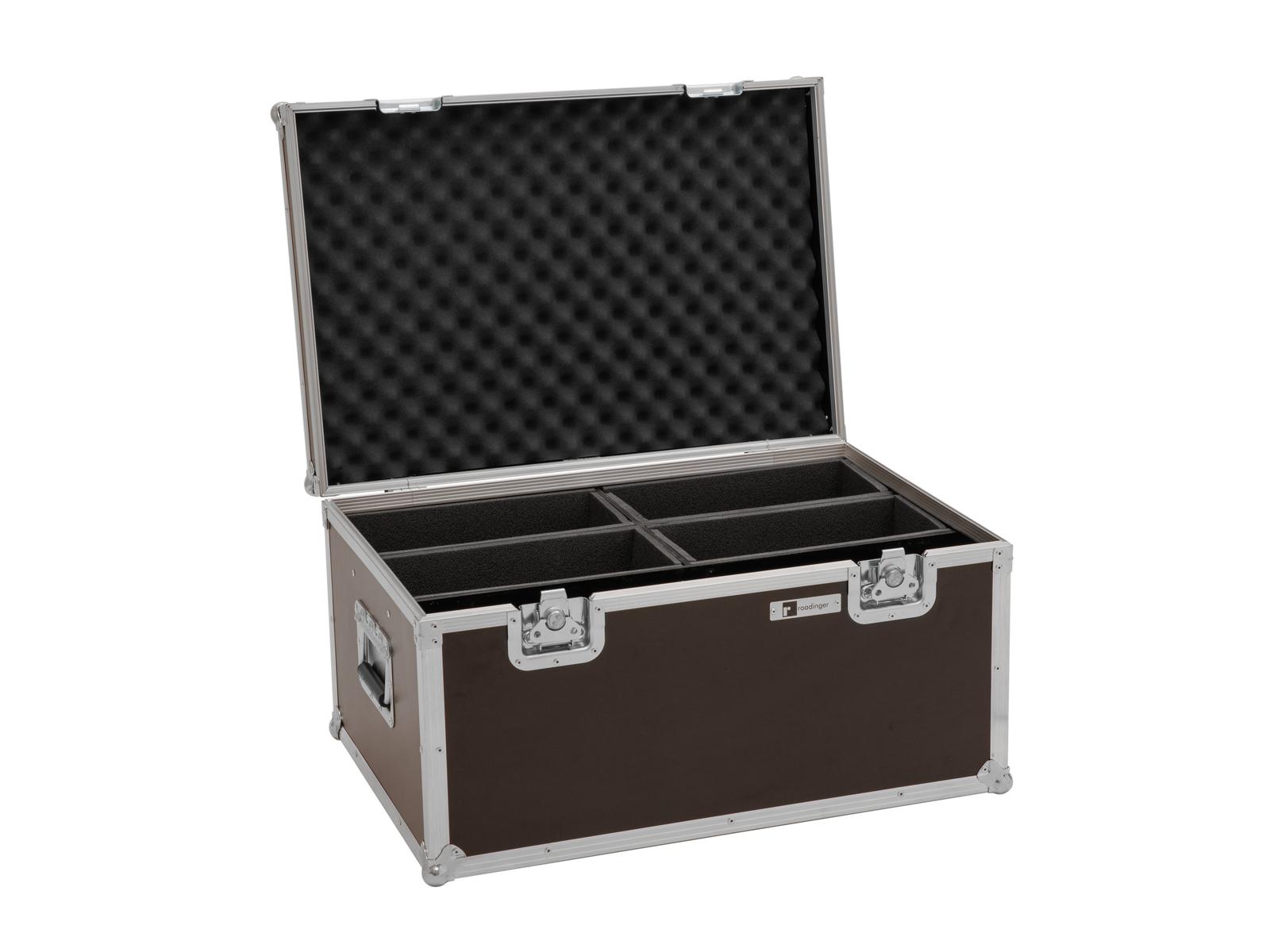 ROADINGER Flightcase 4x LED 4/7C-12 Silent Slim Spot