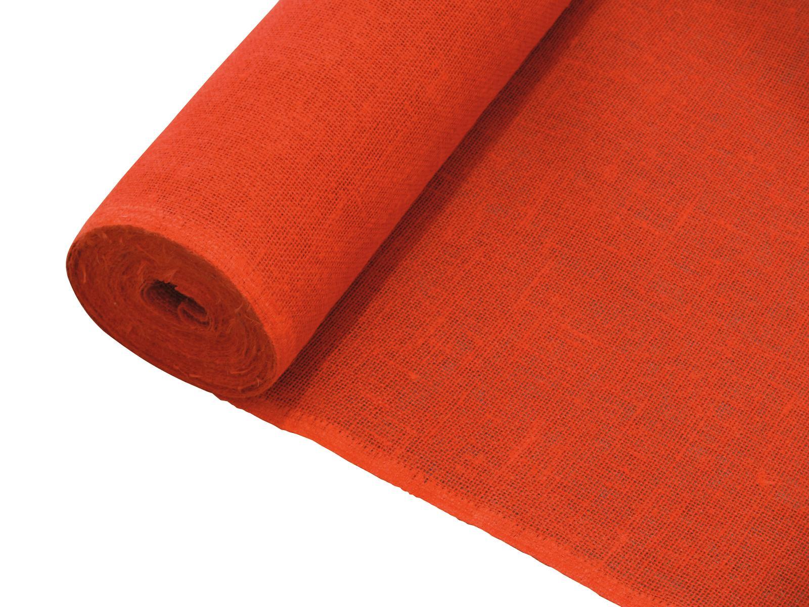 EUROPALMS Dekostoff, Rupfen, rot, 130cm