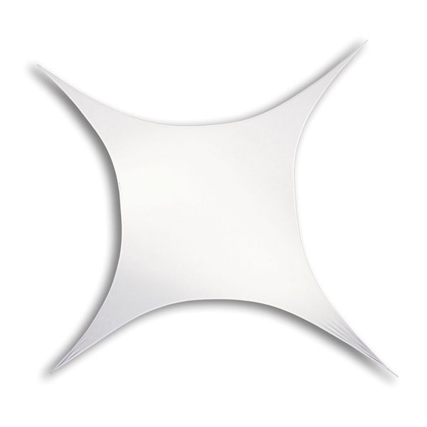 Wentex Stretch Shape Square White 250cm x 125cm, Weiß