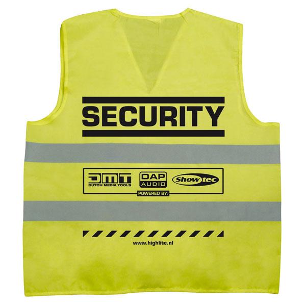 "Showtec Security-jacket ""Security"", gelb"