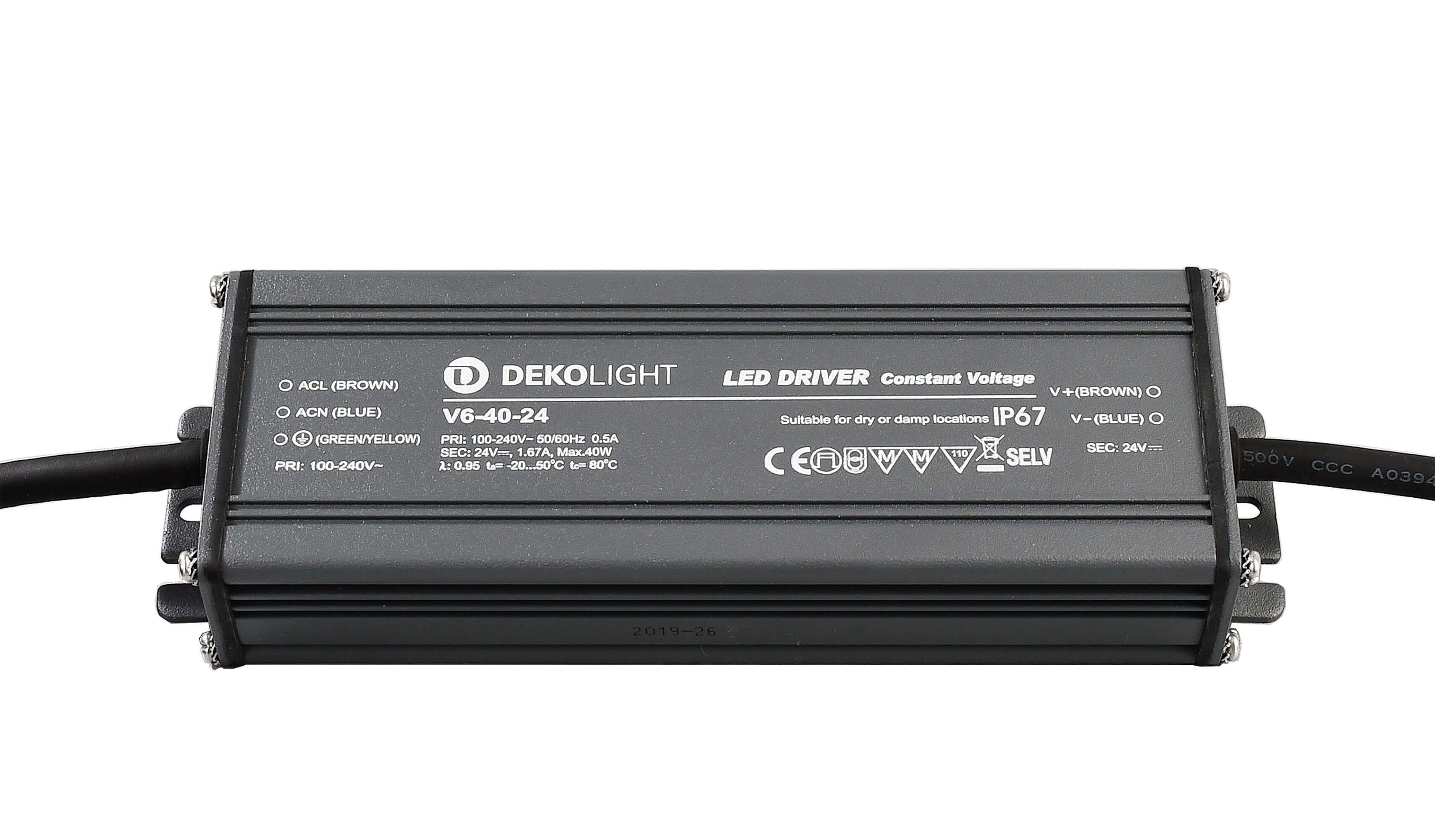 Netzgerät  IP, CV, V6-40-24 24V 40W 1670 mA