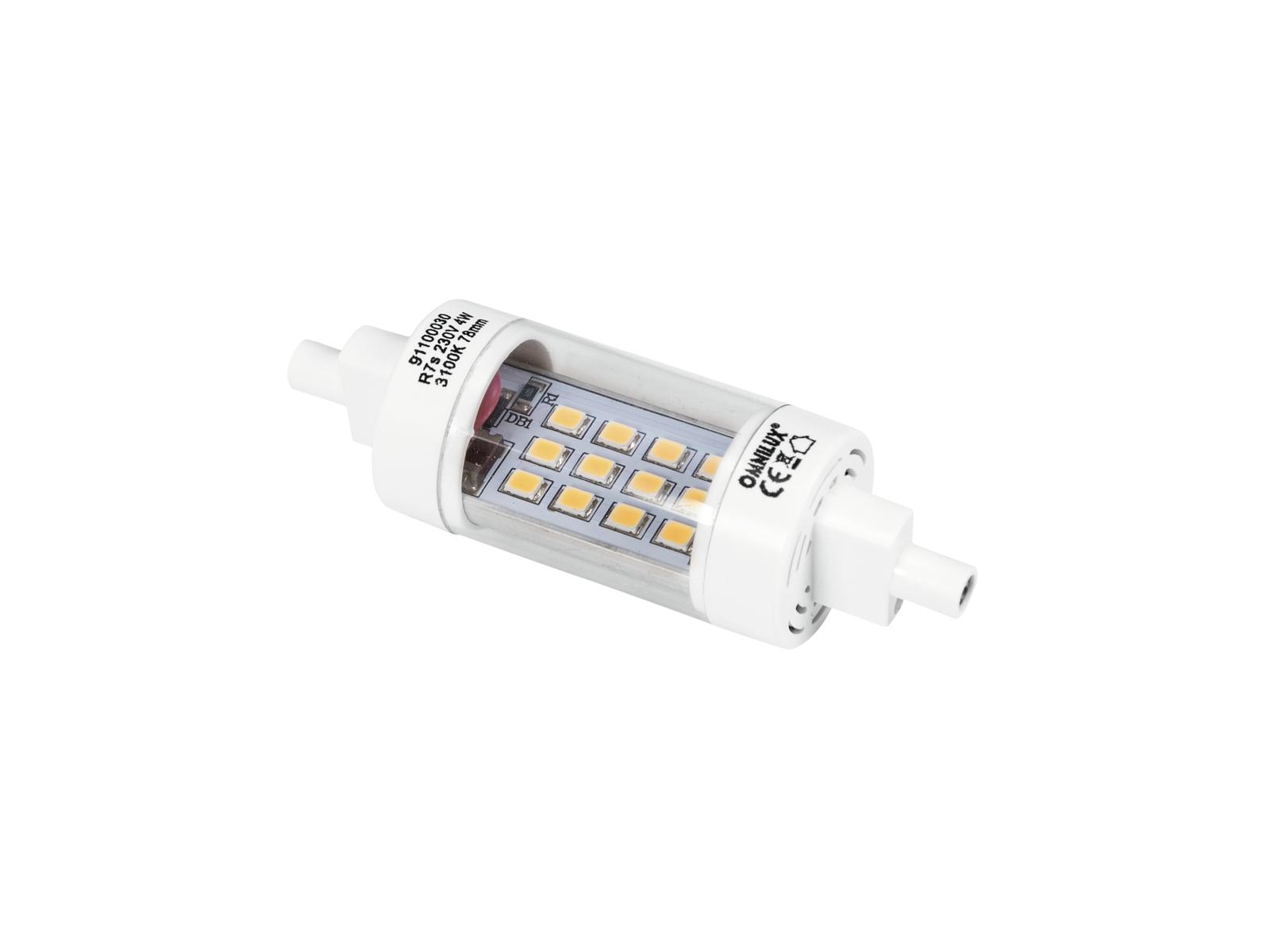 OMNILUX LED 230V/4W R7s 78mm Stabbrenner