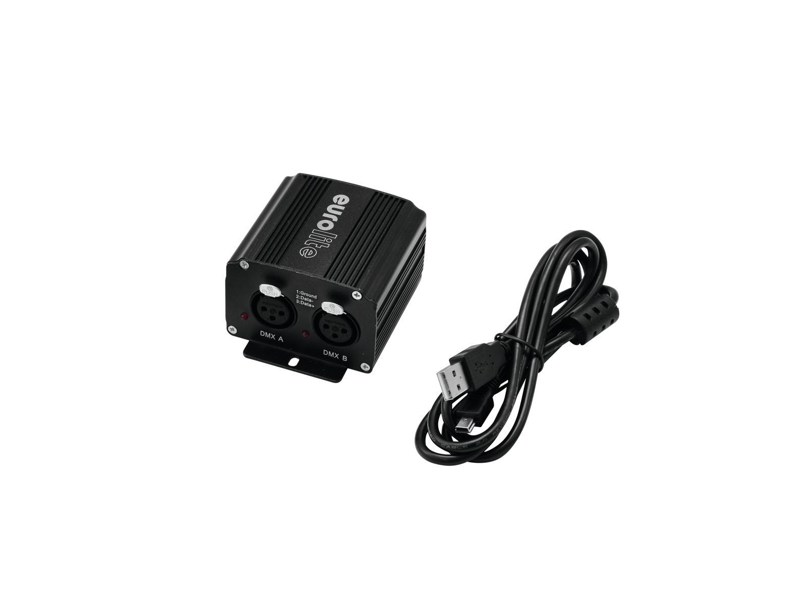 EUROLITE USB-Interface 2x512 DMX/Artnet inkl. 64x DMX512 Steuersoftware