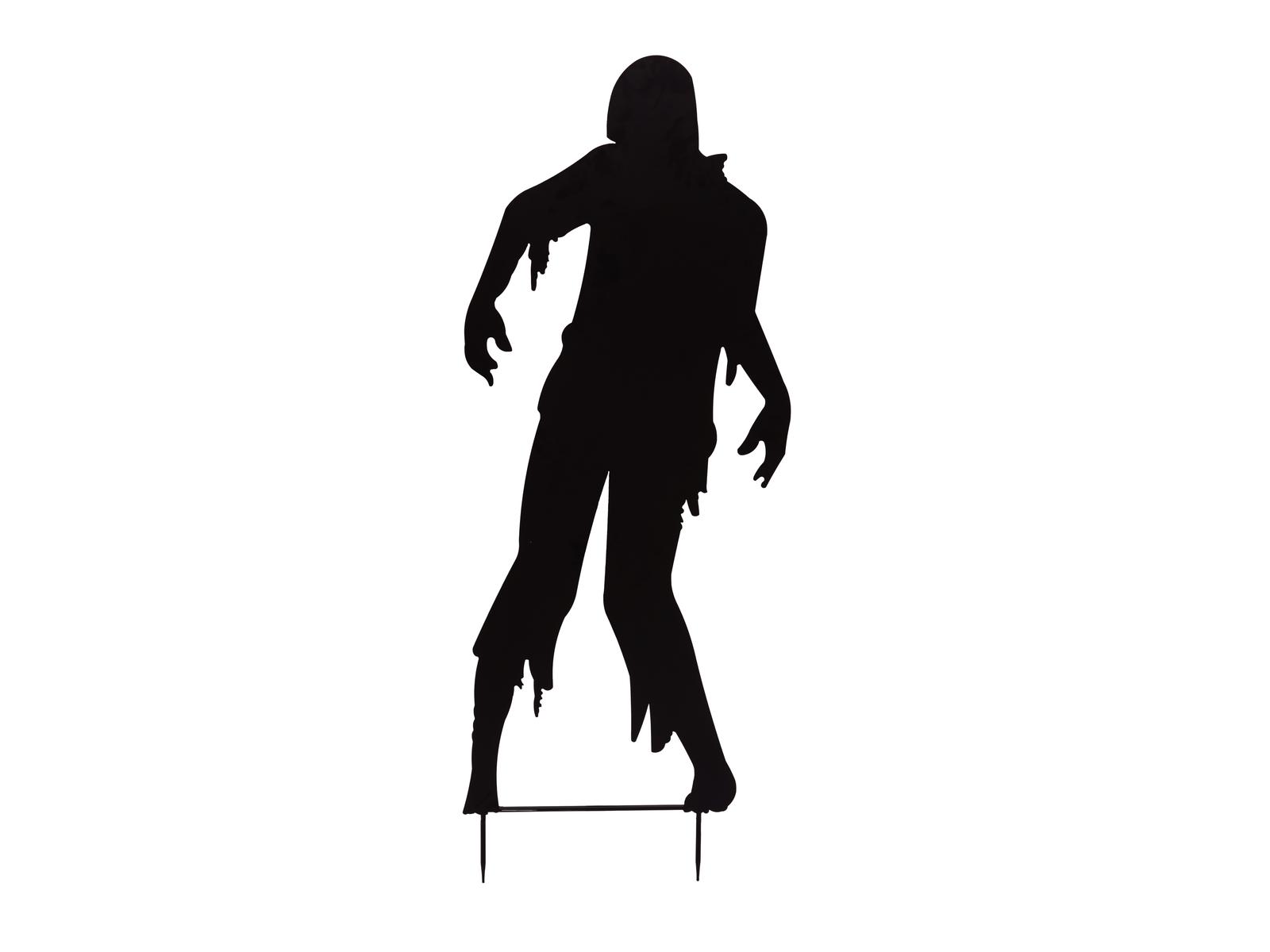 EUROPALMS Silhouette Metall Zombie Mann, 135cm