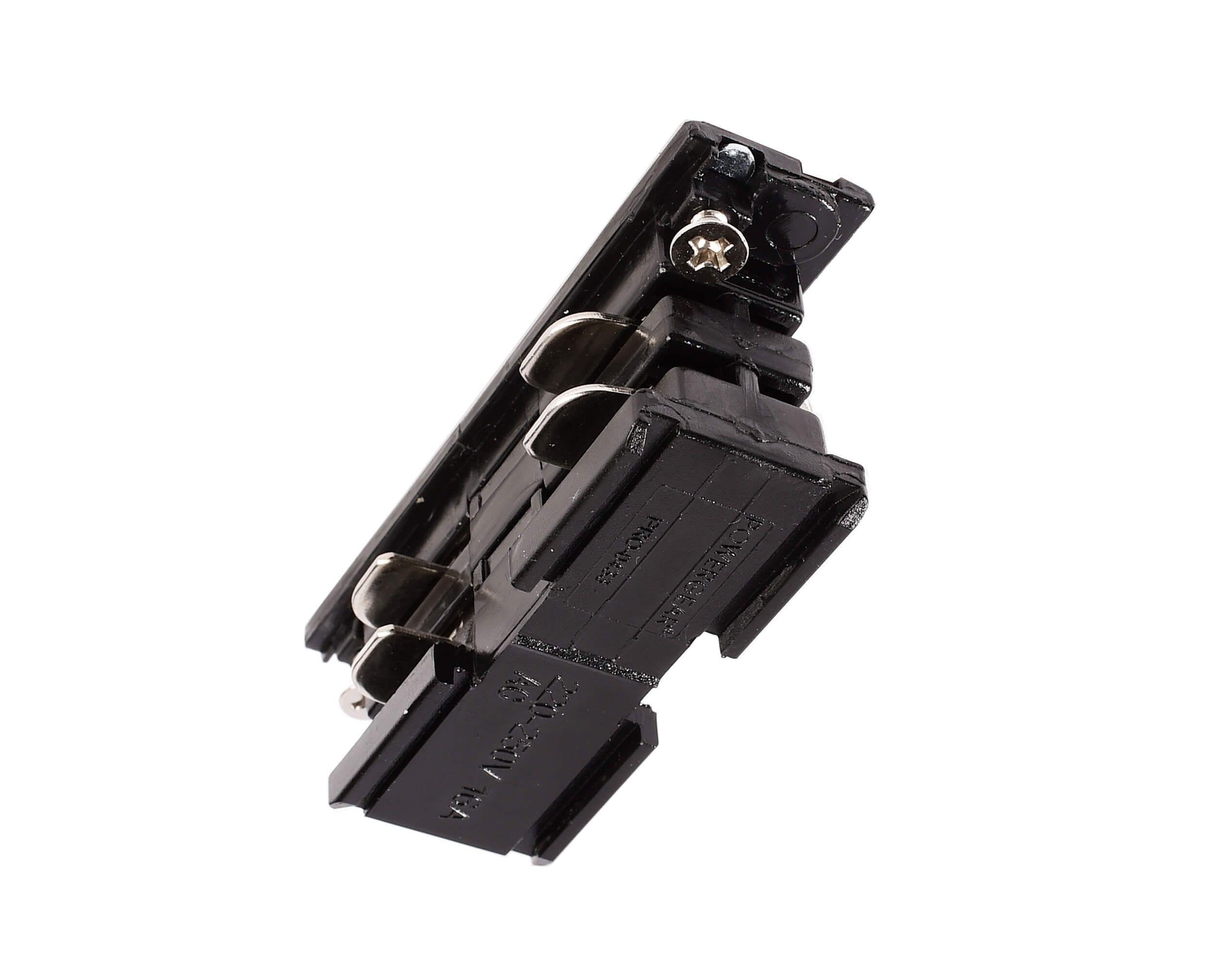 Stromschiene 3-Phasen 230V Elektrischer Verbinder Schwarz