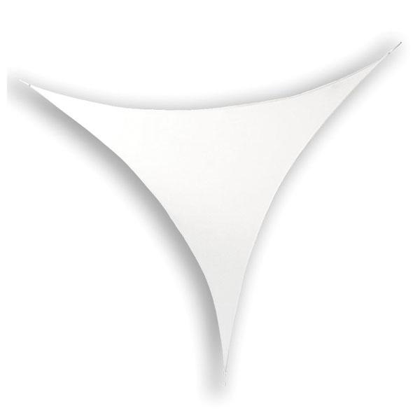 Wentex Stretch Shape Triangle White 125cm x 125cm, Weiß