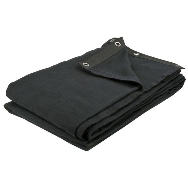 Showgear Deko Backdrop Black Schwarz 300 x 300cm