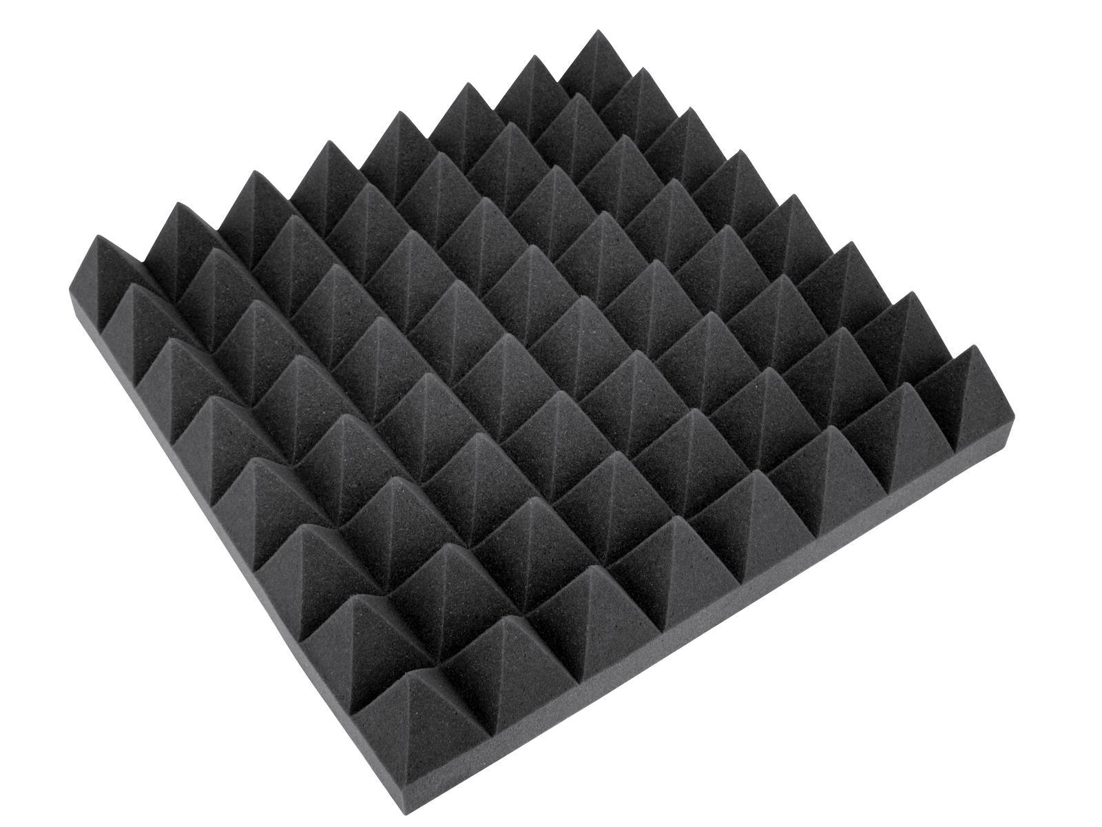 OMNITRONIC Akustikschaumstoff Pyramide 100mm, 50x50cm