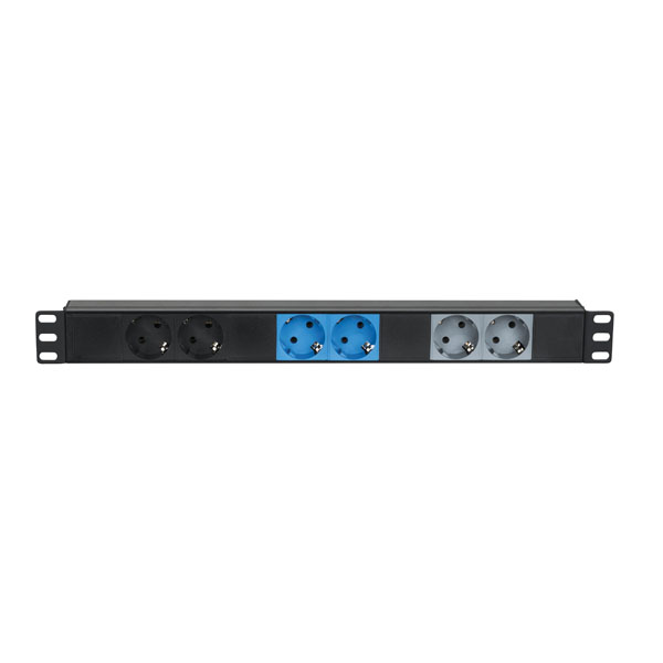 """Showgear 19"""" 1U CEE16A To 6 x Sockets 3-Phasen-Splitter"""