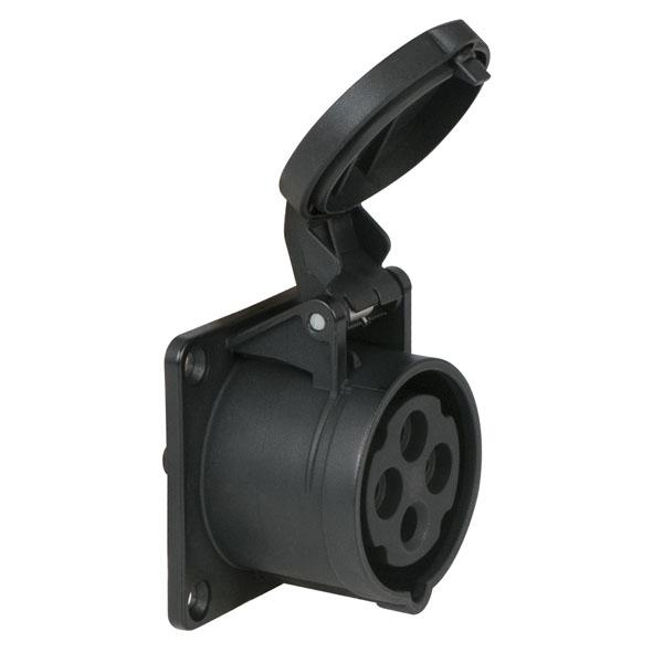 PCE CEE 16 A/400 V - 4P Plug female Schwarz, IP44