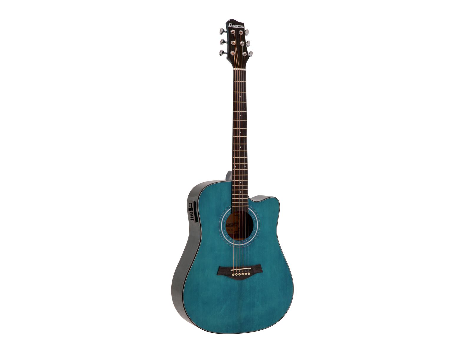 DIMAVERY STW-90 Westerngitarre, crystal blue