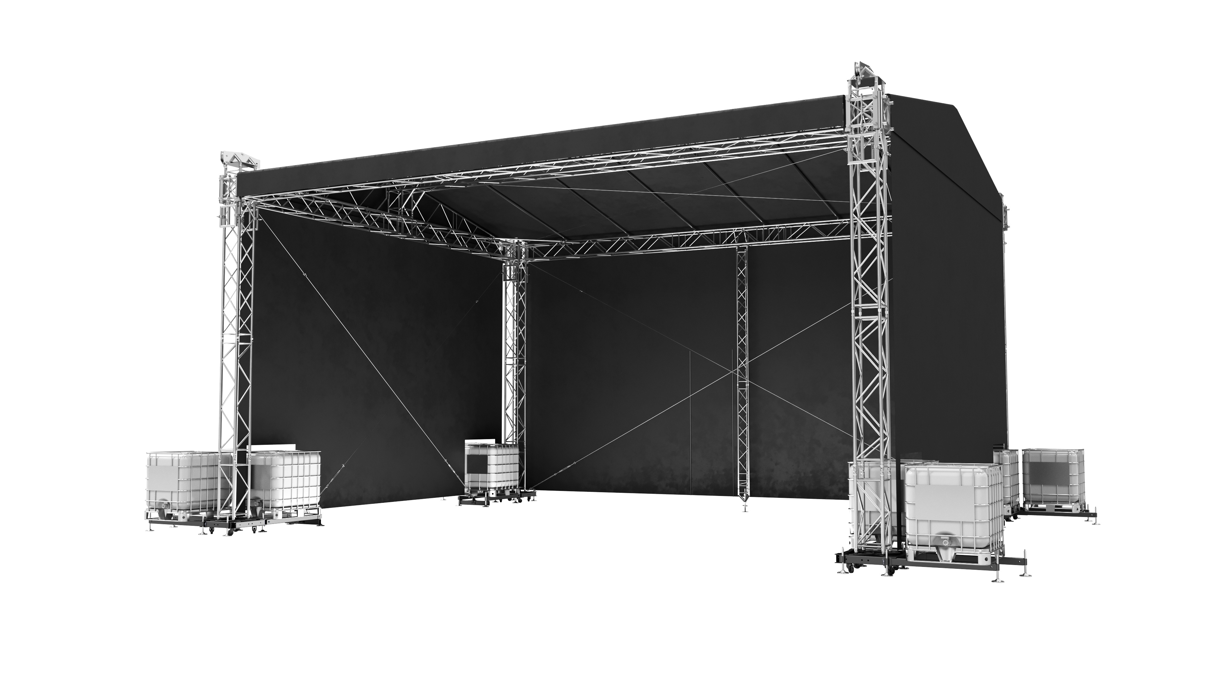 Double Pitch Roof 10x8m / 8x6m