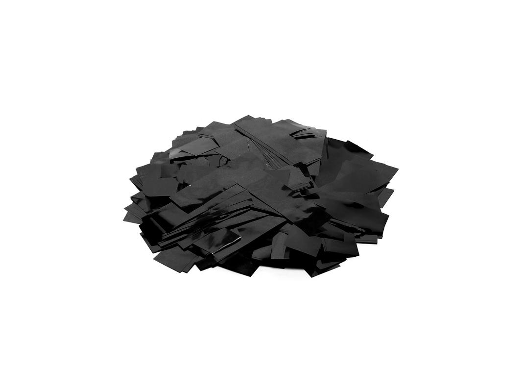 TCM FX Metallic Konfetti rechteckig 55x18mm, schwarz, 1kg