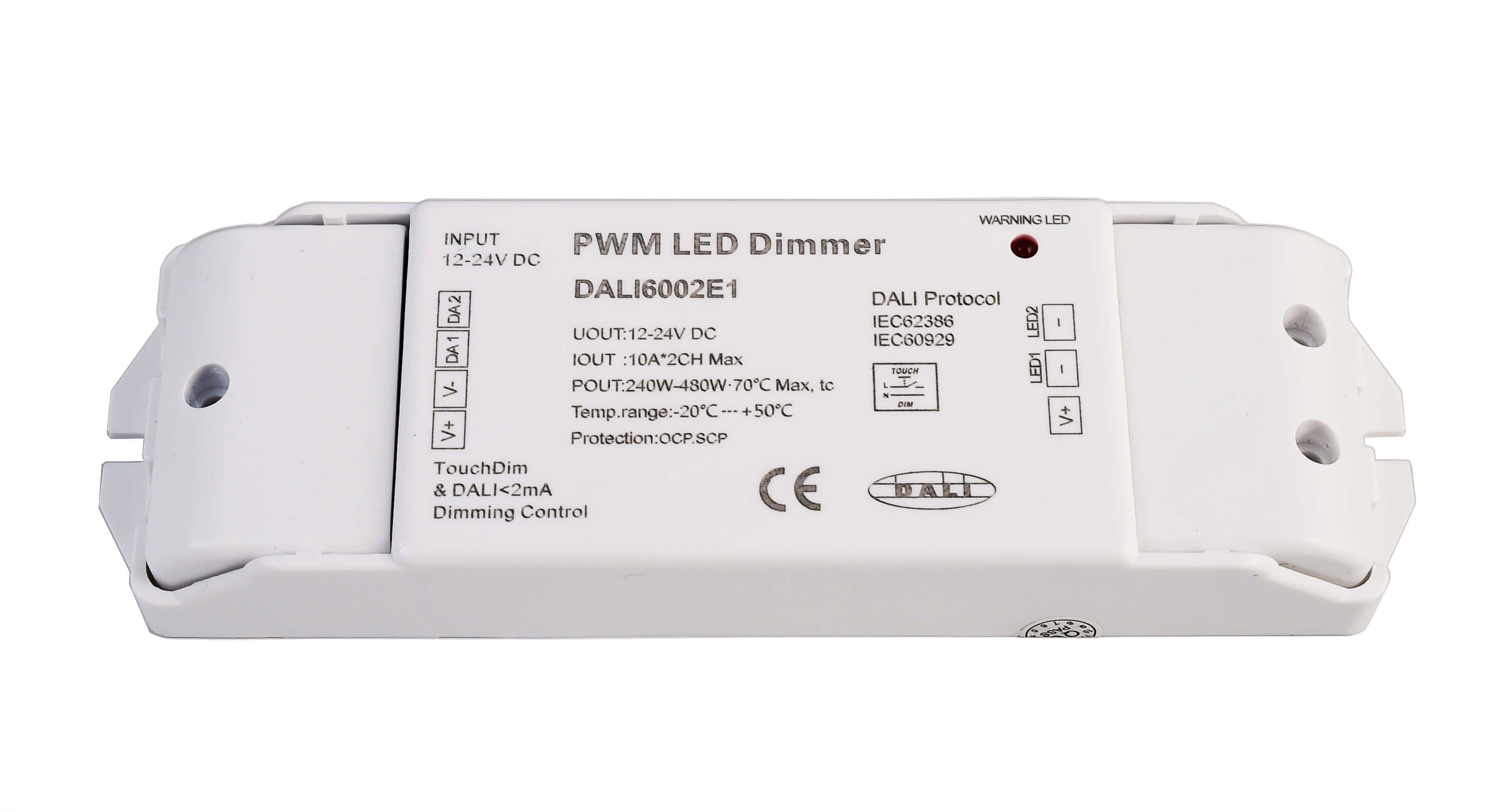 DALI PWM Dimmer CV 2CH, 12/24V, 10A/Kanal, DT6