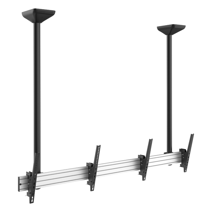 "Showgear PCM4555L-2 Dual Screen Ceiling Mount Long 45"" bis 55"" - neigbar 20° nach unten - einstellbare Länge"