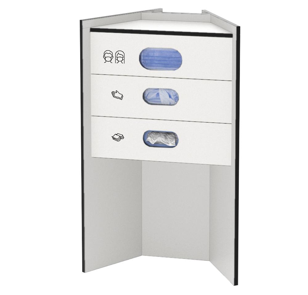 celexon Hygiene Station 90 basic (Masken / Handschuhe / Tücher) - Weiß