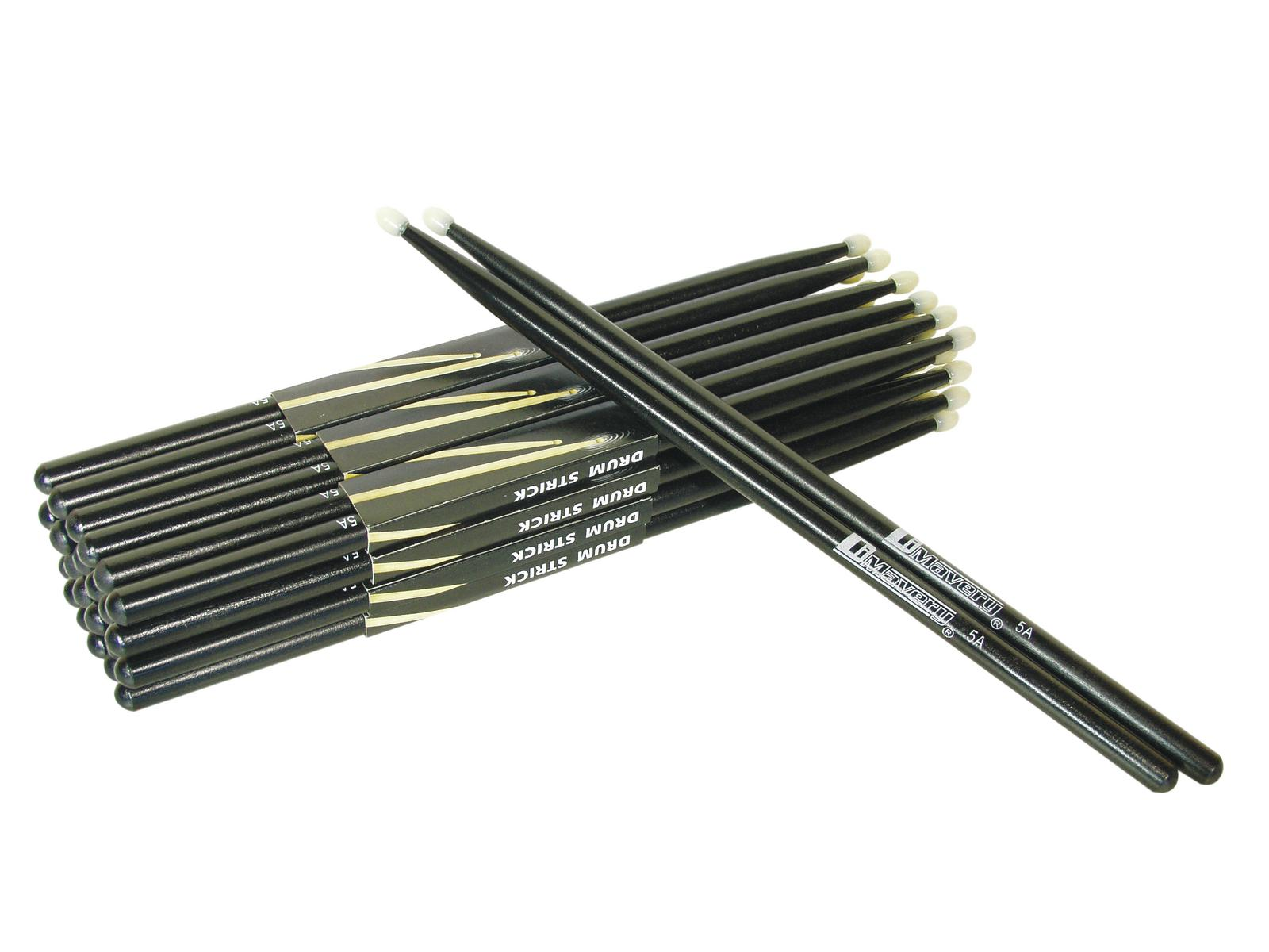 DIMAVERY DDS-5A Drumsticks,Ahorn, schwarz