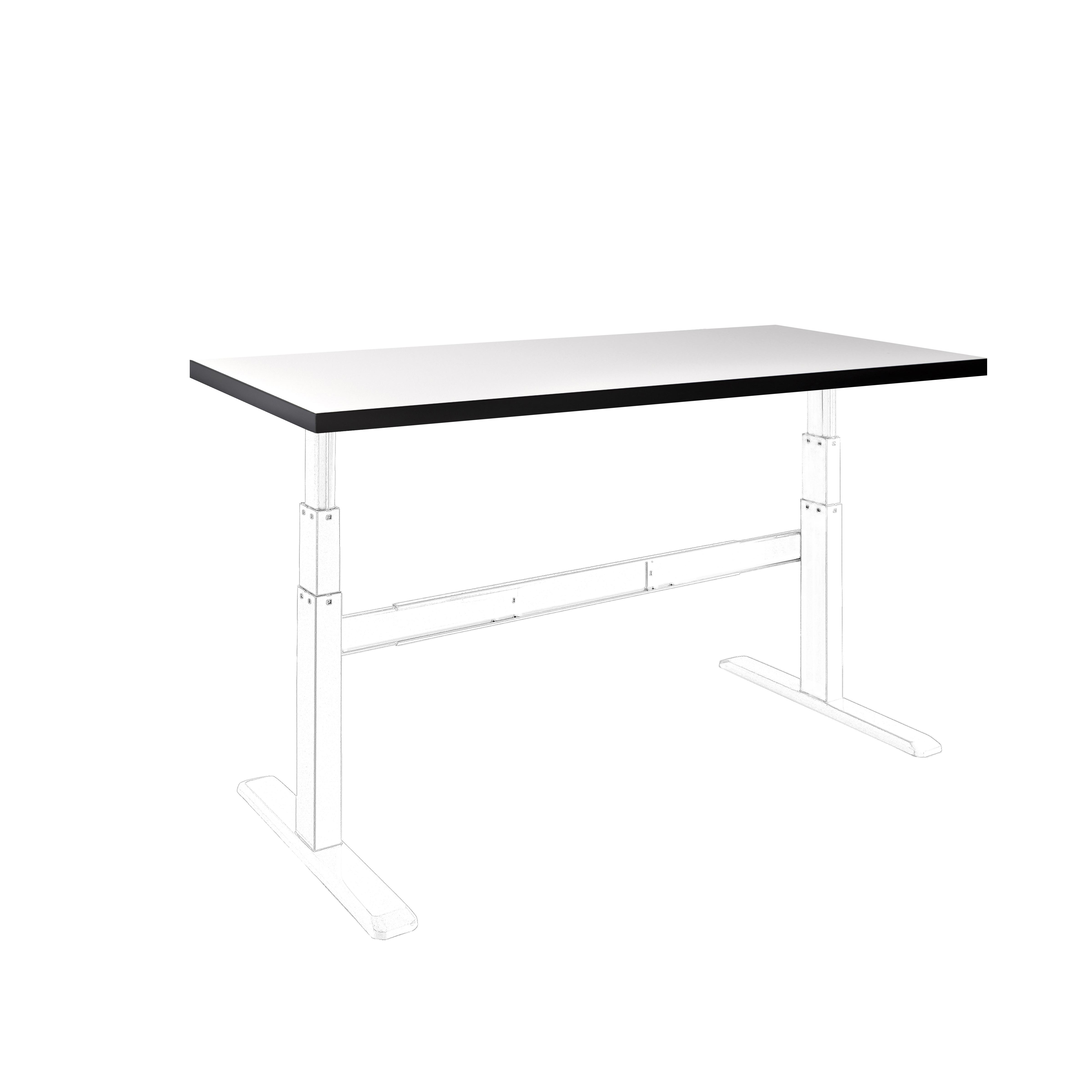 celexon HPL Tischplatte 150 x 75 cm, weiß