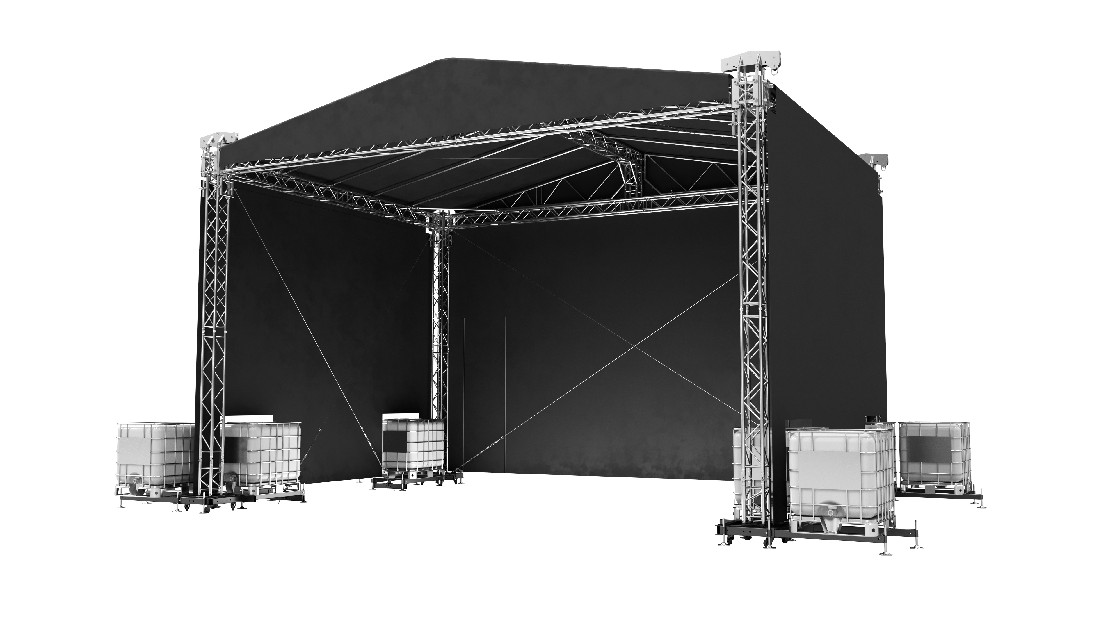 Double Pitch Roof 8x6m