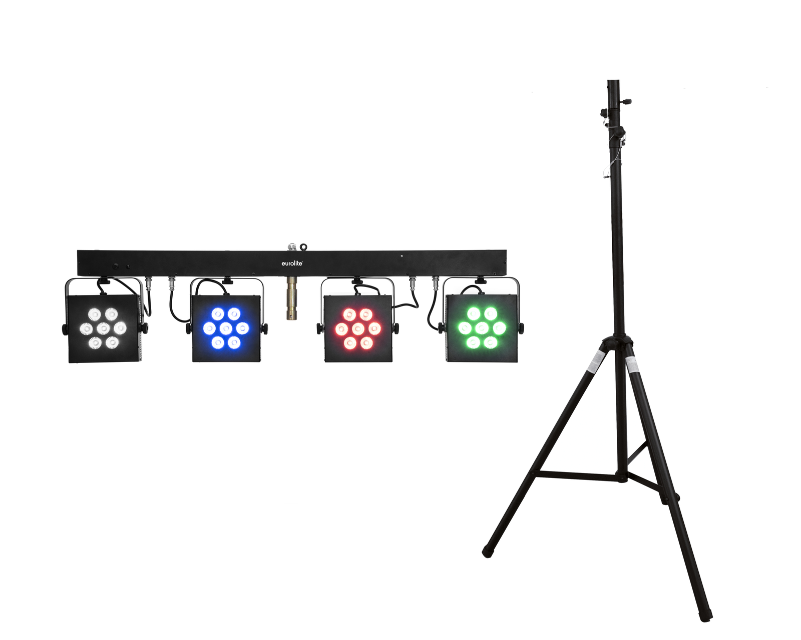 EUROLITE Set LED KLS-3002 + STV-40S-WOT Stahlstativ