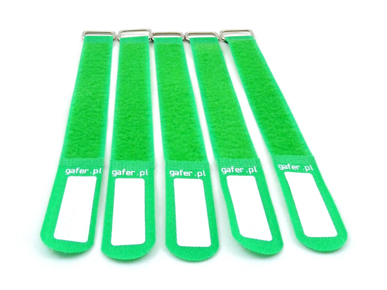 GAFER.PL Kabelbinder Klettverschluss 25x550mm 5er Pack grün