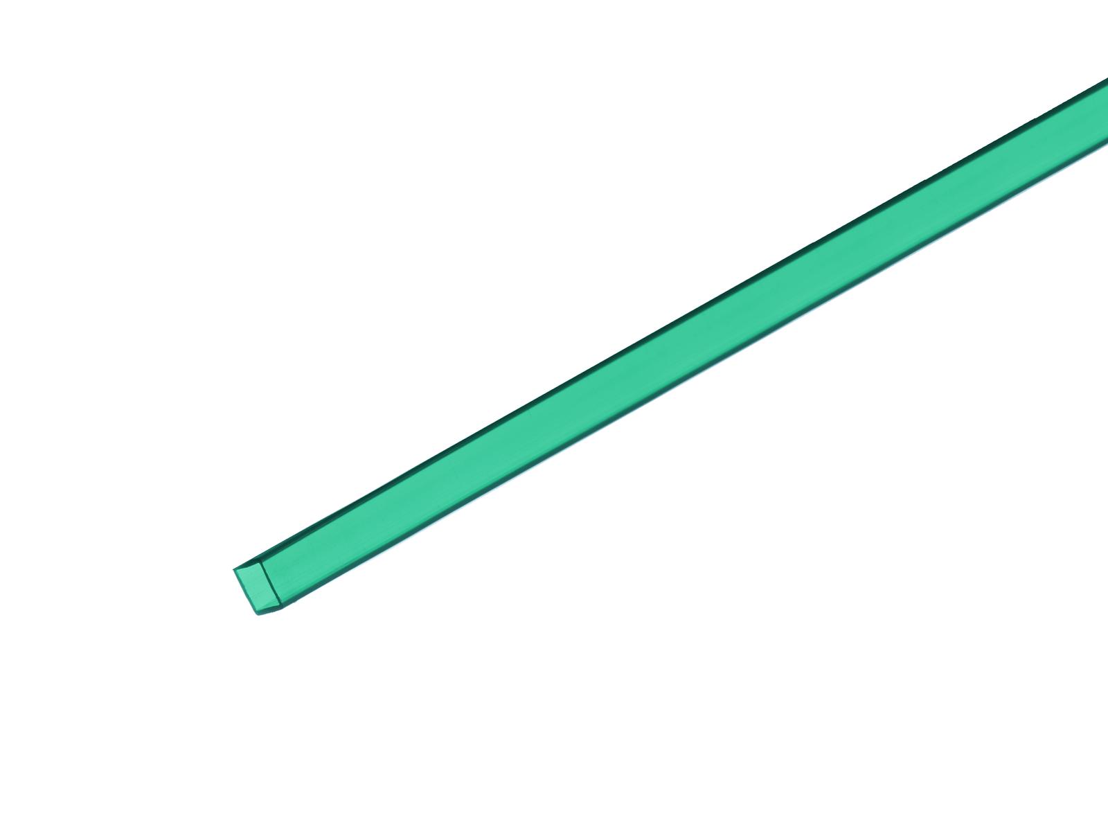 EUROLITE Leer-Rohr 10x10mm grün 2m