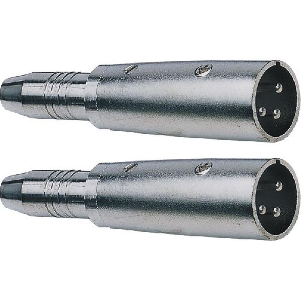 HILEC 2 Stück Adapter XLR male - Klinke female Adapter