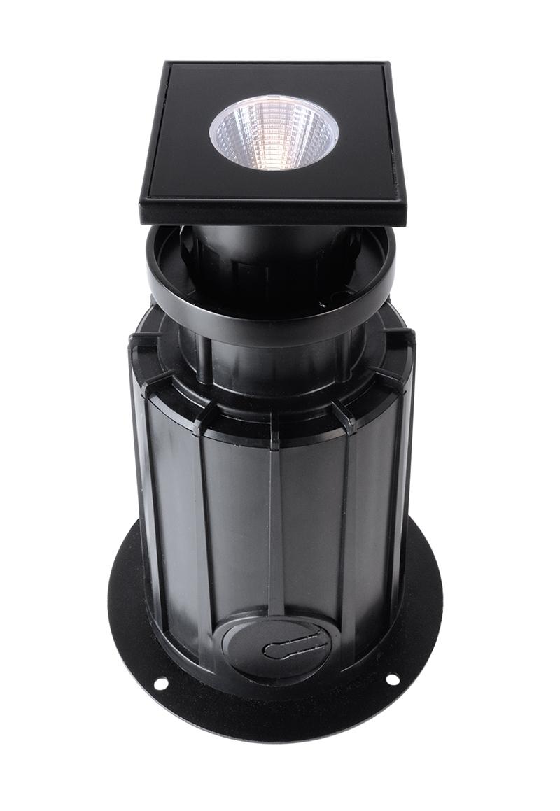 LED Bodeneinbauleuchte Eckig RGB 5W 230V IP67