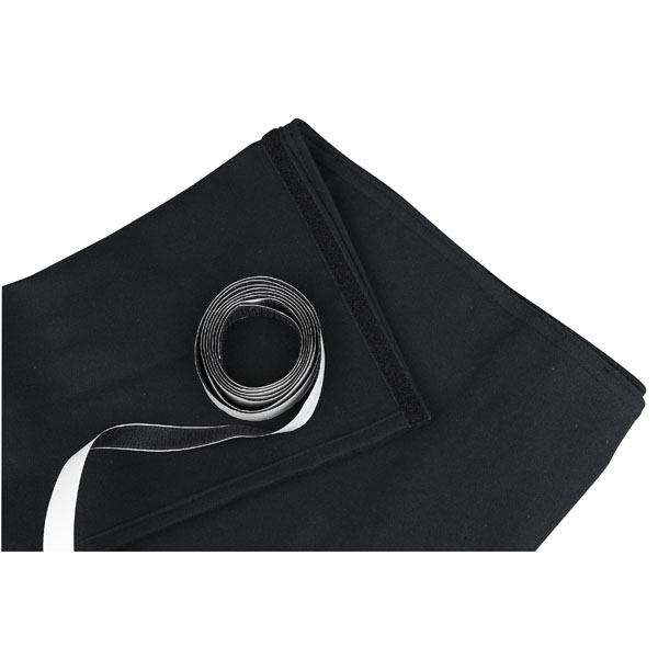 Showgear Skirt for Stage Elements Black, unpleated 6 m (B) - 40 cm (H), schwarz, ungefaltet