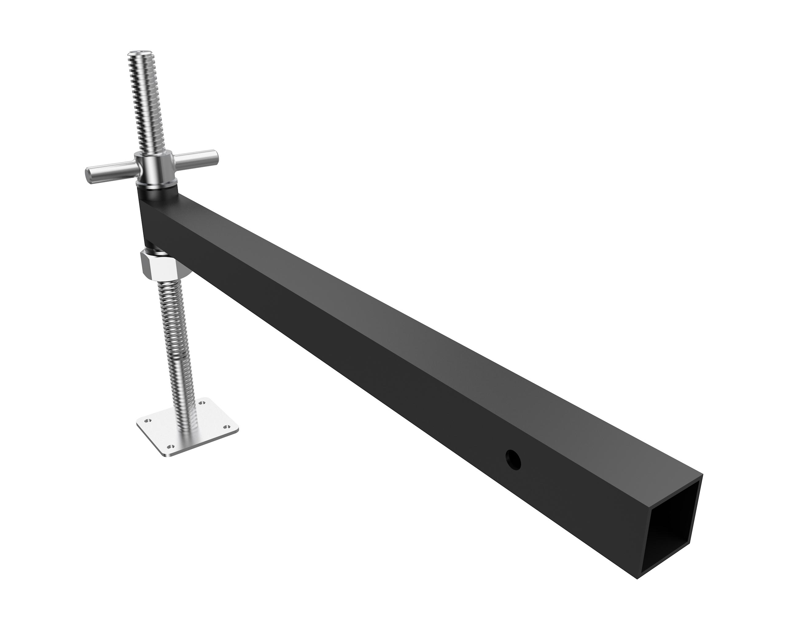 Outrigger für Bodenplatte 75cm Stahl