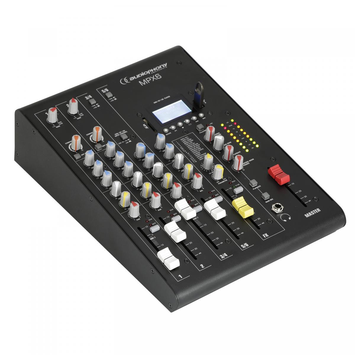 Audiophony MPX6 6-Kanal Mischpult