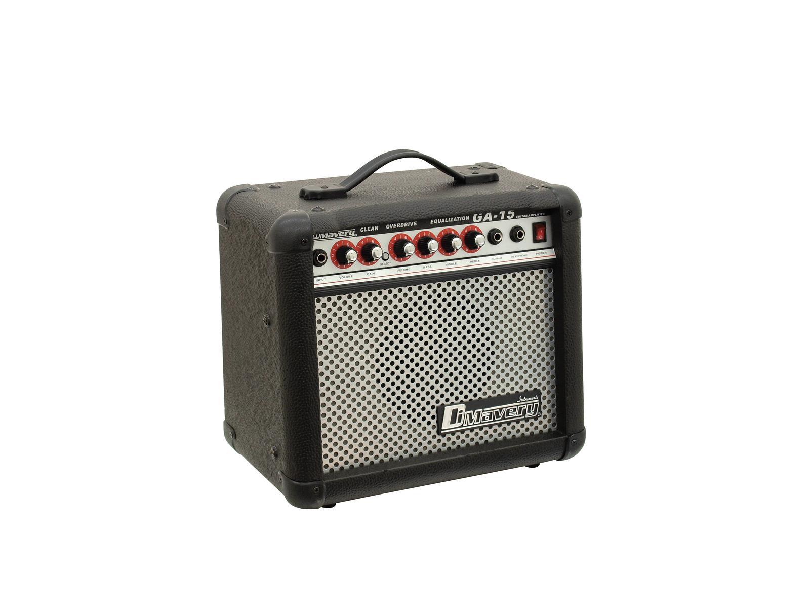 DIMAVERY GA-15 E-Gitarren-Amp 15W