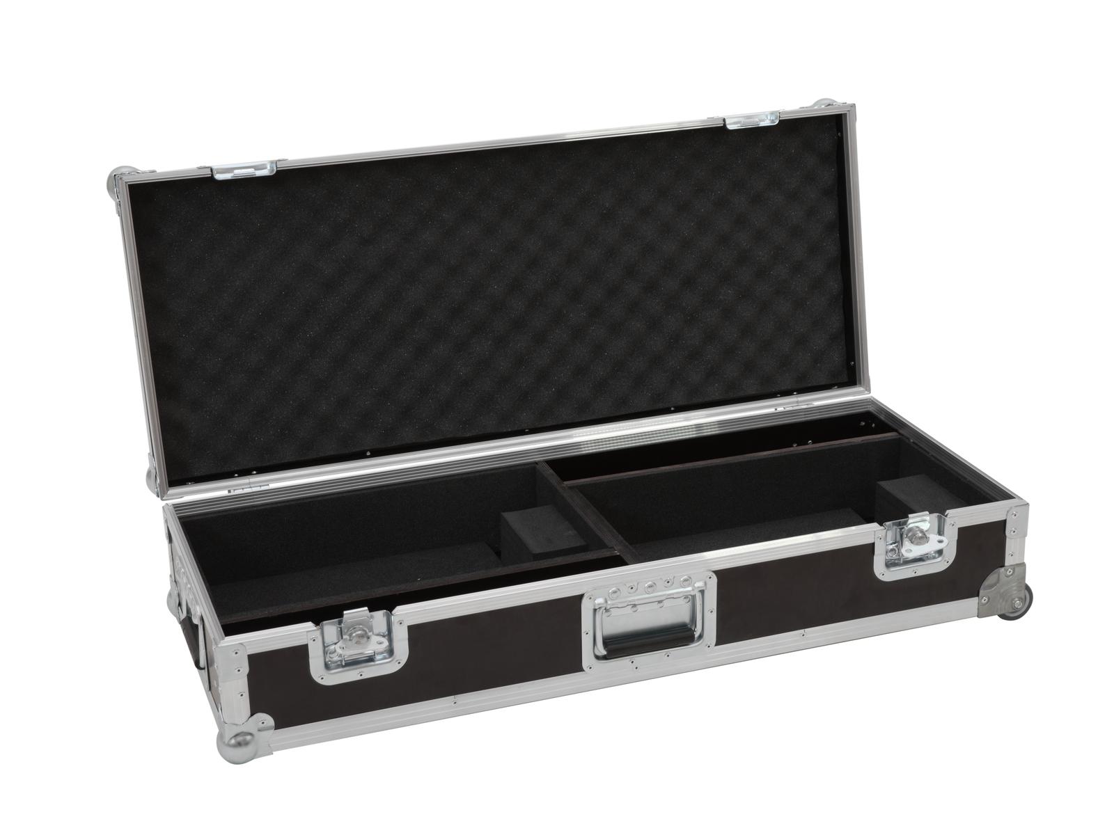 ROADINGER Flightcase 2x LED TSL-1000 mit Trolleyfunktion