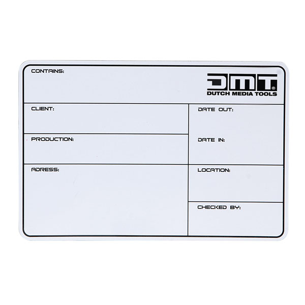 DMT Flight Case Magnetic Label Showgear, magnetisch mit 3M-Klebestreifen + Marker