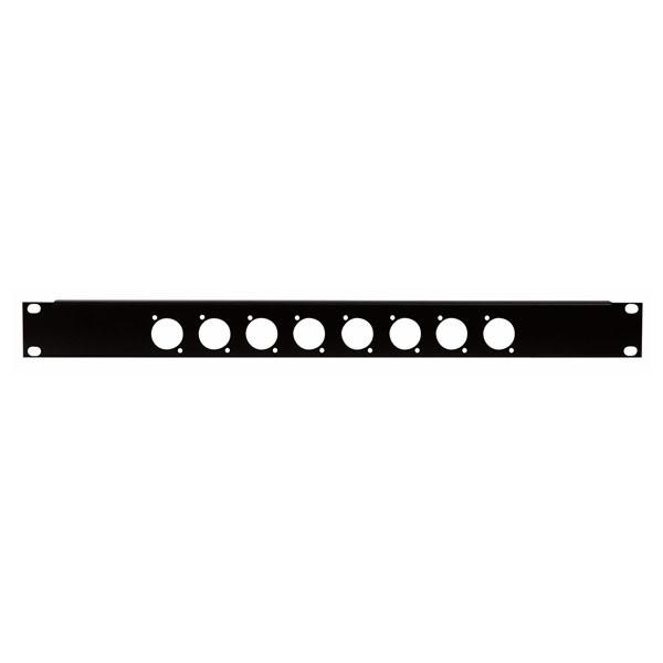Showgear 19 Inch Connector Panel 1HE, für 8 XLR-Anschlüsse (Größe D)