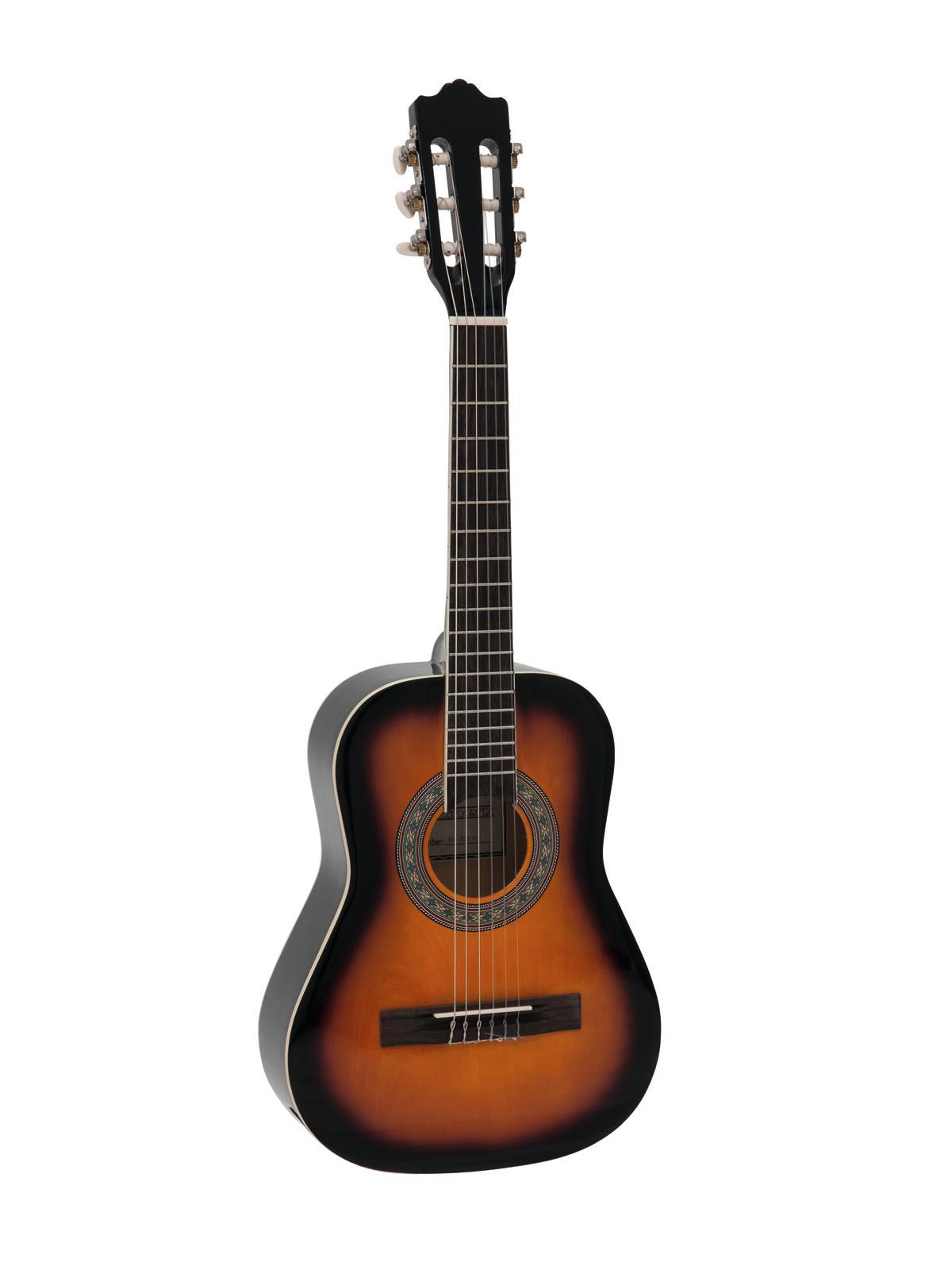 DIMAVERY AC-303 Klassikgitarre 1/2 sunburst