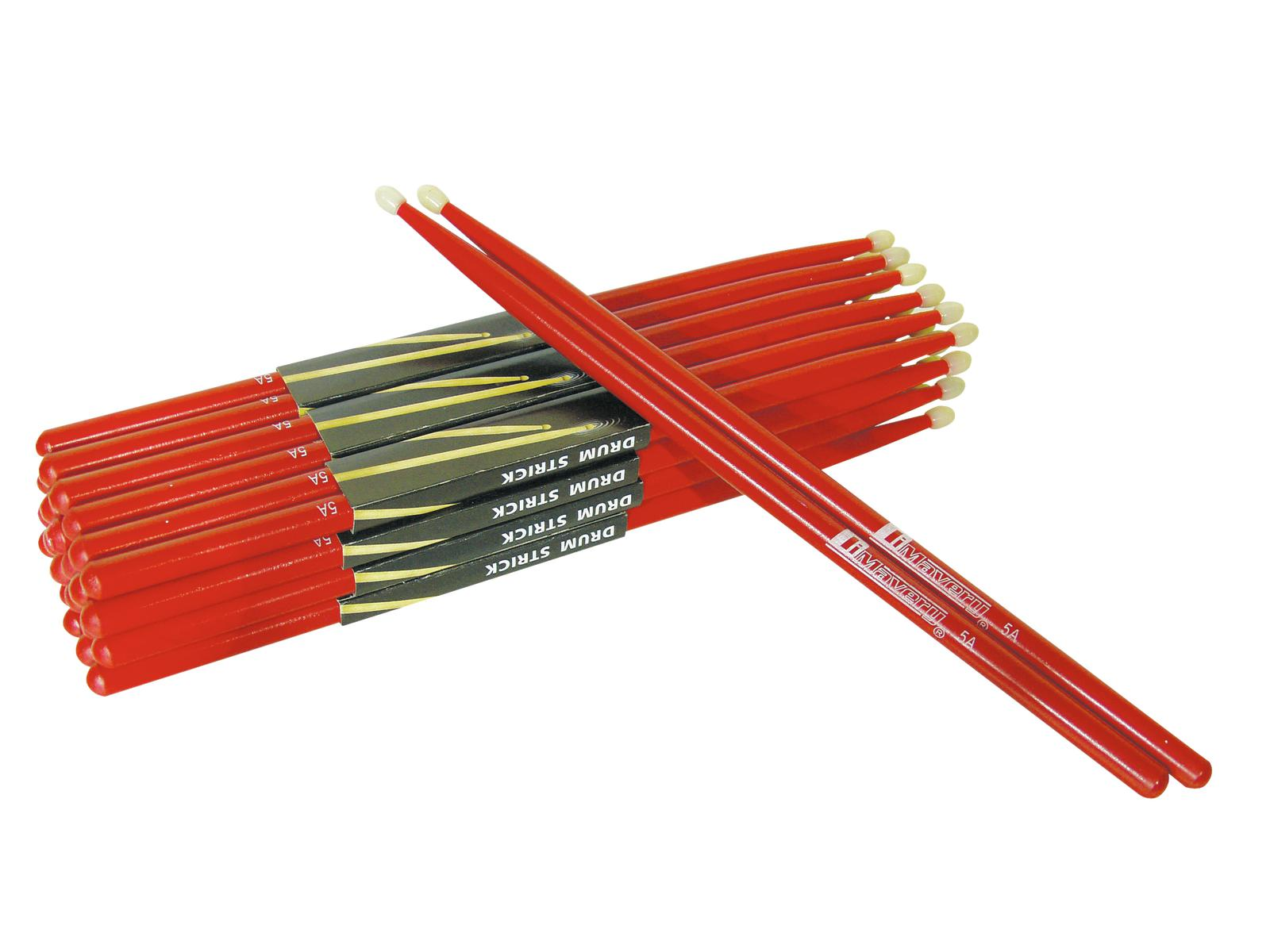 DIMAVERY DDS-5A Drumsticks, Ahorn, rot